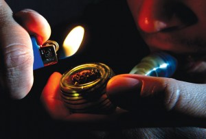 LIGHTS OUT - Rhome City Council snuffed out K2 after passing a ban on the sale and use of the marijuana substitute on Thursday night. Messenger photo by Joe Duty