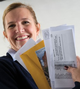 DELIVERING SMILES - For about a decade, Lisa Taylor of Decatur has delivered mail and a smile to Decatur residents and businesses. Taylor is the 11th feature in a series about local personalities. Messenger photo by Joe Duty