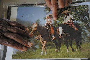 NEXT GENERATION - Father and son were featured together in a photography book on Texas cowboys. Messenger photo by Joe Duty