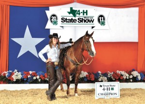 RESERVE CHAMP - Shelby Haggart and her horse, Cattieotary, won reserve champion at the State 4-H Horse Show. Submitted photo