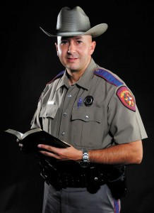 LED BY FAITH - While working in the ministry in South Texas, Adolfo Patterson's address on the one-year anniversary of 9/11 eventually led him to a life as a state trooper in Wise County. Messenger photo by Joe Duty