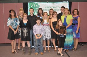 "CLUB OF THE YEAR - Members and leaders of the Bridgeport 4-H Club were awarded ""Club of the Year."""