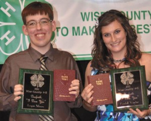DANFORTH AWARD - Logan Moore and Kendall Vawter were awarded the Danforth 'I Dare You' book and plaque.