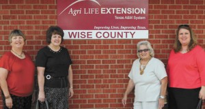 ATTEND CONVENTION - Members who attended the Texas Extension Education Association State Convention in Temple were (from left) Dixie Range, Extension Agent Tanya Davis, Bobbie Ashley and Linda Hood. Submitted photo