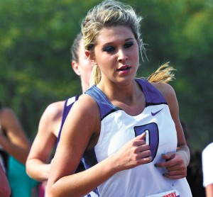 LAST TIME AROUND - Decatur's Bianca Morrison runs her final high school cross country race Saturday at the state meet. Messenger photo by Joe Duty