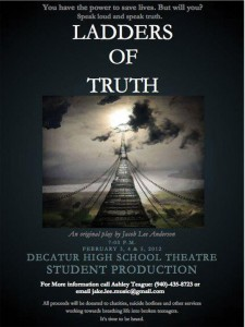 STUDENT PRODUCTION - Proceeds from the play will be donated to local charities, suicide hotlines and other agencies helping teens.