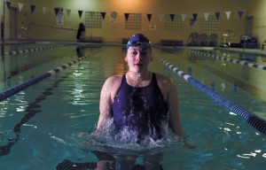 ON THE BIG STAGE - Decatur's Katey Rowden will compete in the 50-yard and 100 freestyle races at the UIL state championships Friday and Saturday at the University of Texas. Messenger photo by Joe Duty