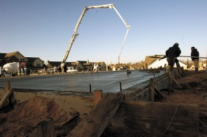 NEW CONSTRUCTION - Almost three weeks ago, slabs were being poured in the construction of more town homes at Greathouse Estates in Decatur. Crews have been busy since and framework is now visible.