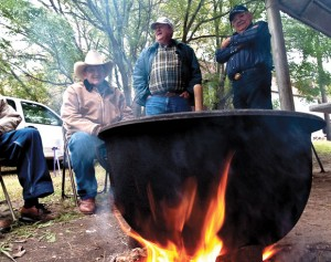 BEANS ARE ON - Greenwood Masonic Lodge 779 AF & AM has served a free beans and cornbread lunch at the Greenwood Art Show since it started 13 years ago. This year's event is 9 a.m. to noon Saturday, April 14. Messenger photo by Joe Duty