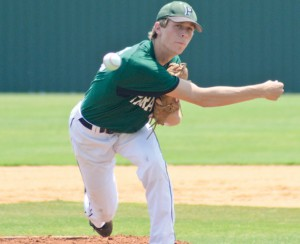 PULLING DOUBLE DUTY - Paradise senior pitcher Connor Berry picked up a pair of wins Saturday against Krum. He held the Bobcats to one run in 10 innings. Messenger photo by Mack Thweatt