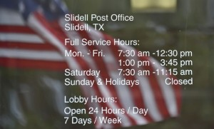 SHRINKING WINDOW - In order to keep thousands of rural post offices open across the country, the USPS has decided to shrink the hours of operation. Greenwood and Slidell will be reduced to two hours per day. Messenger photo by Joe Duty