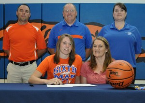 HEADING TO KANSAS - Slidell graduate Brooke Rhodes inked a letter of intent to play basketball at Central Christian College of Kansas this week. Messenger photo by Richard Greene