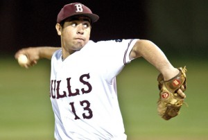 TOP HONORS - Bridgeport hurler Omar Martinez earned the district's pitching award. Messenger photo by Joe Duty