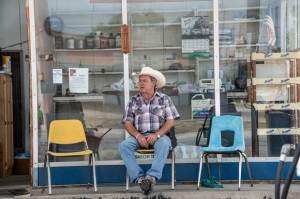 FILLING THE SEAT - For more than 50 years Hudson Gas has served as a local hangout. Dennis Hudson is retiring from the business to devote himself full time to Precinct 1 Constable which he takes over next year. Messenger photo by Joe Duty