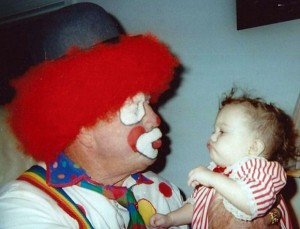"PUCKER UP - For more than 20 years, Alvin ""Red"" Bassham entertained young and old alike as Santa Claus and Big Red-O. A memorial account has been established to benefit children with cancer. Submitted photo"
