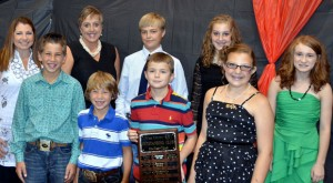 CLUB OF THE YEAR - Decatur 4-H was named Club of the Year at the Wise County 4-H banquet Aug. 18. Pictured are (back, from left) leaders Shelly Laaser and Lisa Long, and members Seth Byers, Lyndi Luttrull, (front, from left) Thaine Laaser, Cale Laaser, Luke Tribe, Lauryn Luttrull and Fallon Sachse.