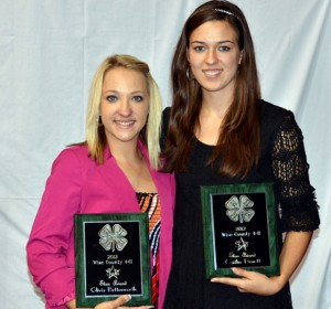 GOLD AWARD - Olivia Bettesworth of Paradise 4-H (left) and Caitlin Pruett of  Slidell/Greenwood 4-H received the Gold Award.