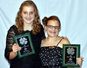 SILVER AWARD - Lyndi and Lauryn Luttrull of Decatur 4-H received the Silver Award.