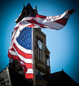 PRIDE AND REMEMBRANCE - United States flags were a plentiful sight Tuesday as Wise County joined the rest of the nation in observing Patriot Day, a day to remember those killed in the Sept. 11, 2001, terrorist attacks. Messenger photo by Joe Duty