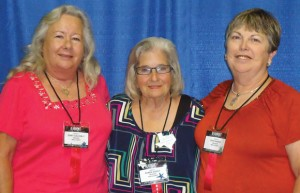 REPRESENTING WISE - Gerry Galloway (from left), Bobbie Ashley and Dixie Range attended the annual TEEA state convention in Beaumont earlier this month. Submitted photo