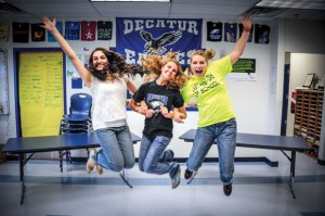 STATE'S BEST - Decatur High School seniors Madeline Pena, Cristin Morgan and Paris Walther were named to the UIL All-State Journalism Staff after accruing a minimum 50 points in competitions throughout last year. The three were on the school's newspaper staff. Messenger photo by Joe Duty