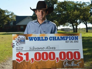 BIG WINNINGS - With the back-to-back World Champion title, Silvano Alves won $1 million, bringing his season earnings to $1,464,475.61. Messenger photo by Joe Duty