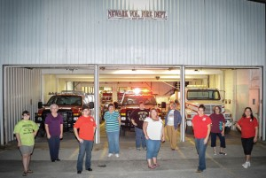 CRUISIN' TIME - Members of the Newark Volunteer Fire Department Ladies Auxiliary were busy at the station Monday night planning for this weekend's 25th annual Cruisin' Days festival. Messenger photo by Joe Duty