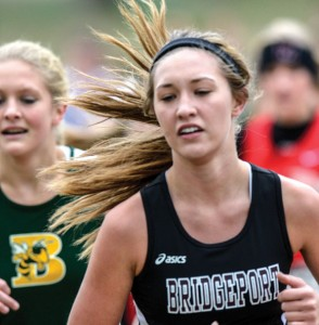 KEEPING THE PACE - Bridgeport's Lauren Stowers makes her way through the course Saturday. Messenger photo by Joe Duty
