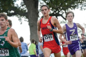 MOVING ON - Northwest's Zach Kirkland finished in eighth place at the District 4-5A Cross Country Meet Thursday, qualifying him for the regional meet Nov. 3. Messenger photo by Joe Duty