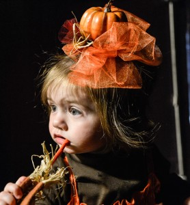 PRECIOUS PUMPKIN - Khloe Shephard was one of 25 participants in the second annual Pumpkin Pageant at Coal Miners' Heritage Days festival in Bridgeport. She participated in the 0-to-23-month category. Messenger photo by Joe Duty