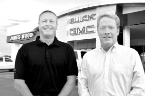 READY TO SELL - Rust Ford (left) was promoted to general sales manager at James Wood Motors, and Lanny Loesch is the dealership's newest hire as the Buick sales manager. Messenger photo by Ken Roselle