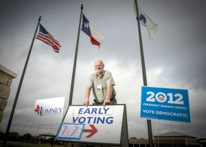 VOTE HERE, OR HERE OR HERE - With three early voting locations available for the first time in a presidential election, a first-day record was set Monday, according to Wise County Elections Administrator Lannie Noble. Messenger photo by Joe Duty