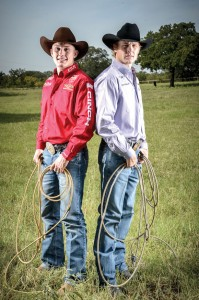 ALL IN THE FAMILY - Brothers Tuf (left) and Clif Cooper of Decatur prepare for the National Finals Rodeo in Las Vegas, which starts Dec. 6. This will be Tuf's fifth appearance at the National Finals and Clif's third. Messenger photo by Joe Duty