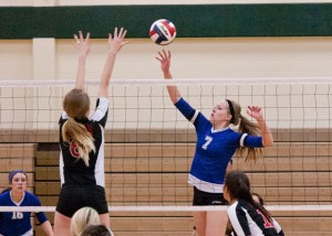 BIG POINT - Darci Billmire get the ball past the Argyle defense. Messenger photo by Jimmy Alford