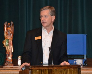 "CHAMBER SPEAKER - State Rep. Phil King spoke at the Decatur Chamber of Commerce luncheon Tuesday. The topics he covered included Medicaid, making Texas the most ""business-friendly state"" and the education system. Messenger photo by Bob Buckel"