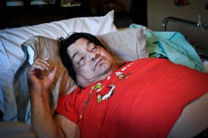 DAMAGED - A lifetime of drug abuse, highlighted by a four-year binge of cocaine and methamphetamine, have left Tommy Flores bedridden with a host of ailments. Messenger photo by Joe Duty