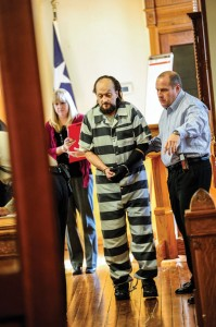 'I'M GUILTY' - Mark Schomburg, 52, of Paradise pled guilty Wednesday afternoon to the murder of Susan Whisenant, 47, of Missouri, last summer at his country home. He received 40 years in prison. Messenger photo by Joe Duty