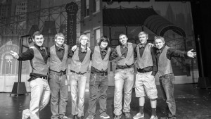 IN TUNE - Among those students interested in forming the Northwest High School Barbershop Society are (from left) Fortino Gottlich, Jackson Schnoor, Randall Morris, Sebastian Davis, Dylan Wall, Garrett Moltzan and Paul Cockrum. Messenger photo by Joe Duty