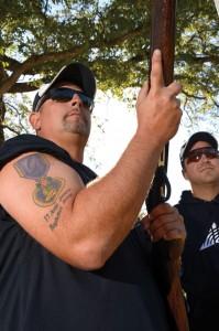 READY — Seckel holds his shotgun while on the range. Messenger photo by Joe Duty