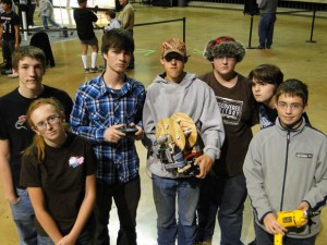 ROBOTICS TEAM - Slidell High School robotics team placed 10th at a recent contest. Team members include (front) Sarah Beavers, (back, from left) Cole Tivis, Alex McCullough, Heyden Crane, Jason Fuller, River Koon and Shelby Vanover.