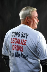 SPEAKING HIS MIND - Rusty White of Bridgeport retired from law enforcement and is a voice for the legalization and regulation of drugs as a member of LEAP (Law Enforcement Against Prohibition). Messenger photo by Joe Duty