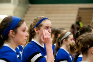 TOUGH TIMES - Cooper Martin sheds a tear after Argyle defeated Decatur in the Region II final at Mesquite Saturday. Messenger photo by Jimmy Alford