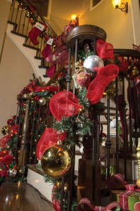 TRADITIONAL DECOR - The home of Andrew Rottner and Kelli Pyland is decorated with traditional Christmas decorations and family heirlooms.