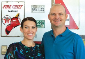 RIBBON CUTTING - The Decatur Chamber of Commerce hosted a ribbon cutting Nov. 28 at the Decatur Service Station. Pictured are owners Ashly and Michael DoByns.