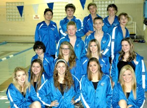 GOOD RESULTS - The Decatur swim team poses after the Irving Winter Invitational Saturday. Submitted photo