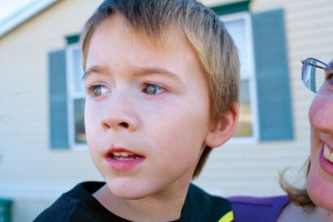 IN THE EYES - Xander, 7, is diagnosed with autism. Although his family will deal with many trials, they feel blessed by how atypical he is, both as an autistic child and their son. Messenger photo by Jimmy Alford