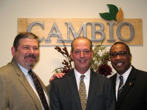 MAKING CAMBIO - The Bridgeport Area Chamber of Commerce held a ribbon cutting for Cambio Life Recovery Center Nov. 30. Pictured are Dr. Shawn L. White, medical director; David Cudmore, managing partner; and Don Johnson, executive director. Messenger photo by Bob Buckel