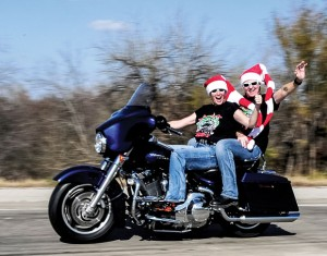 "RIDING FOR A CAUSE - A record number of motorcycles rolled into town for the annual Wise County Toy Run. Debbie Reed said $20,000 was collected  and ""two trailer full of toys"" were donated. Messenger photo by Joe Duty"