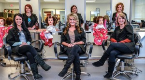 AT THEIR STATIONS - The cosmetology school at Weatherford College Wise County will open its salon to the public Wednesday. There are 20 students enrolled in the program, including (back, from left) Kelly Peters of Boyd, Cynthia Castillo of Bridgeport, Jessica Rhine of Alvord, (front, from left) Taylor Oates of Bridgeport, Cari McBride of Paradise and Maegan Flavin of Bridgeport. Messenger photo by Joe Duty