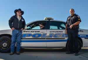 CITIZENS ON PATROL - From left are CPA member Larry Brown, CPA President Wayne Watts and Decatur Police Sgt. Delvon Campbell. Decatur Police Department is looking for more men and women to enroll in its free 12-week Citizens Police Academy program. Messenger photo by Joe Duty